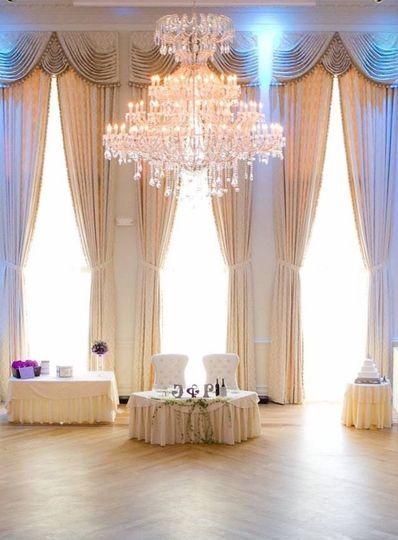 Glittering chandelier lighting