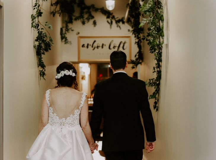 Walking into the reception