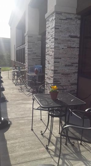 Front porch of Chef Mikes Charcoal Grill