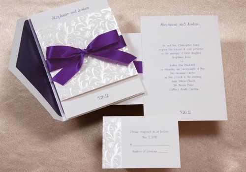 Tmx 1353203686458 PurpleSatinRibbon Glassboro wedding invitation