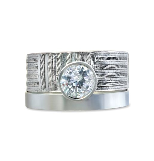 Texture band 1.5ct diamond
