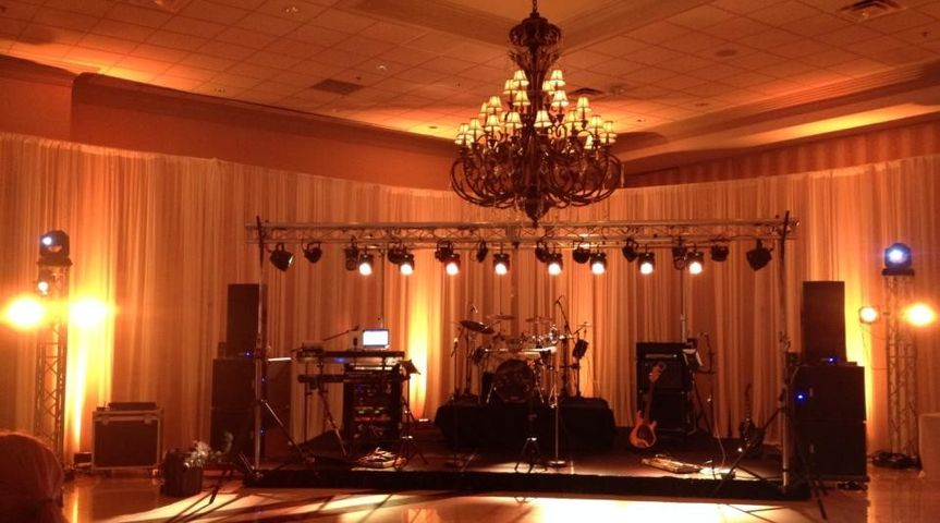 Eclipse Live Band equipment setup - Color match to uplighting
