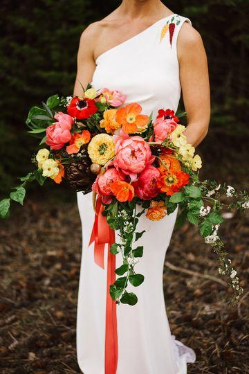 Forest elopement bouquet