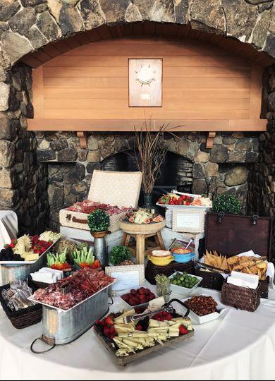 Little buffet table