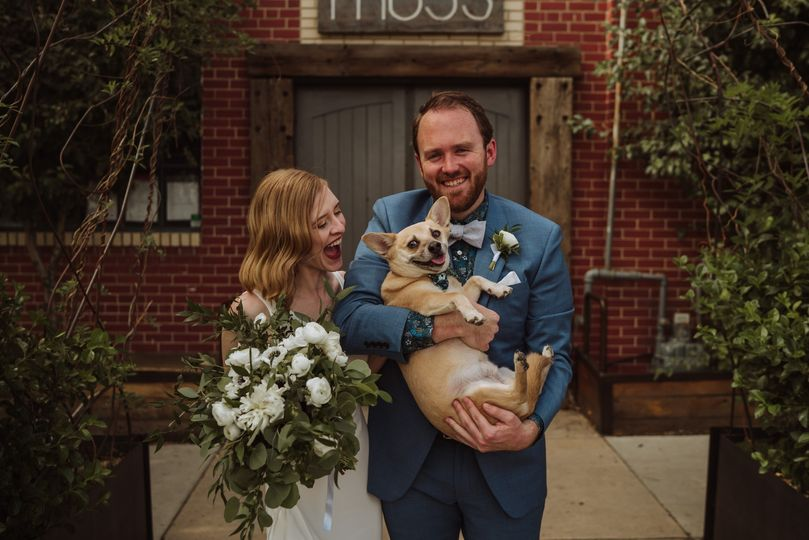 Happy Couple + their pup