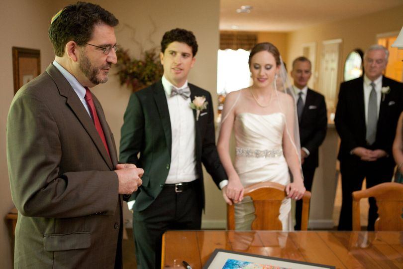 Signing of the ketubah (marriage agreement)