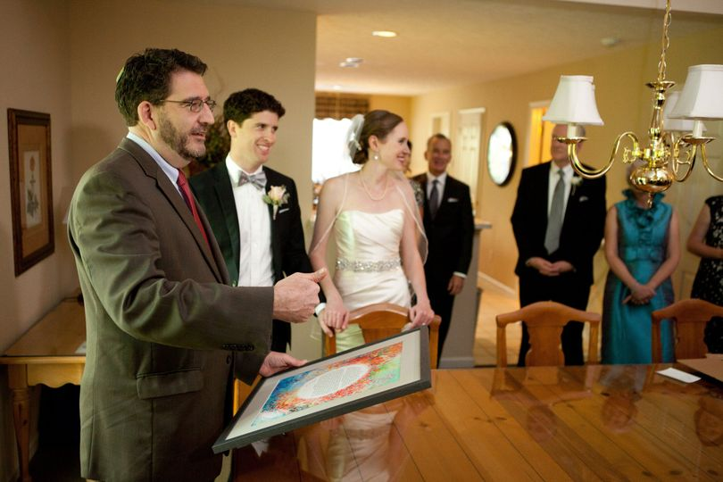 Another picture from the ketubah signing ceremony