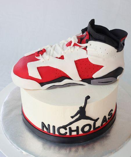 Air Jordan 6 Carmine Groom's Cake