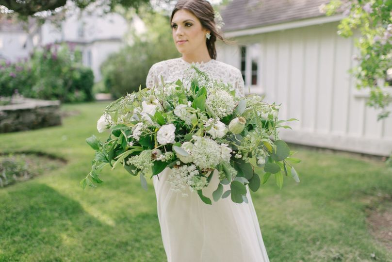 Large leafy bouquet