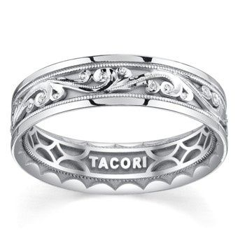 Wedding band with engravings
