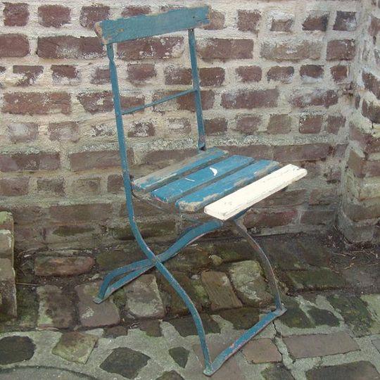 vintage blue bistro chair