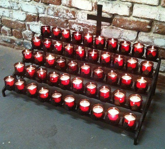antique prayer candle stand