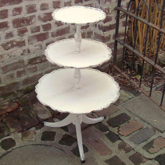 vintage white 3 tier table