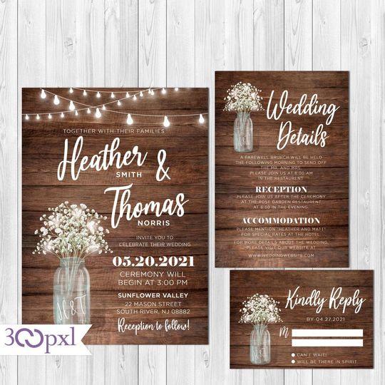 Country Wedding Invite