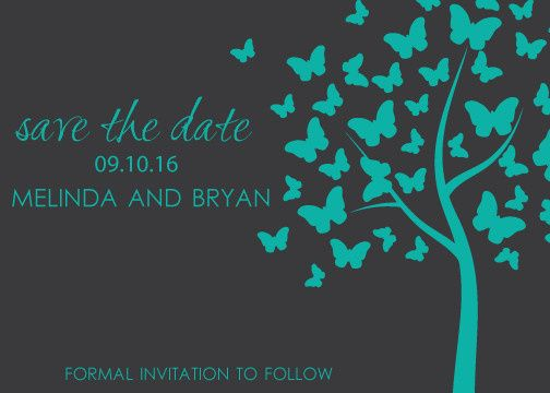 save the date butterly tree2