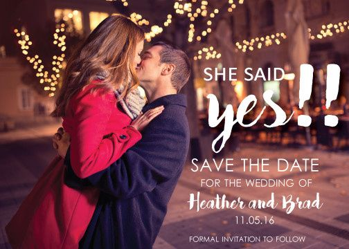 she said yes save the date