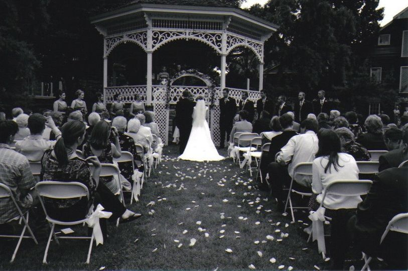 A beautiful gazebo ceremony