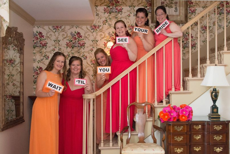 Bridesmaids at the golden plough inn!