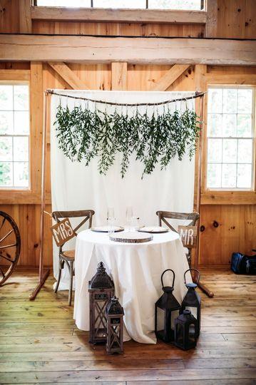 Sweetheart table embellishment