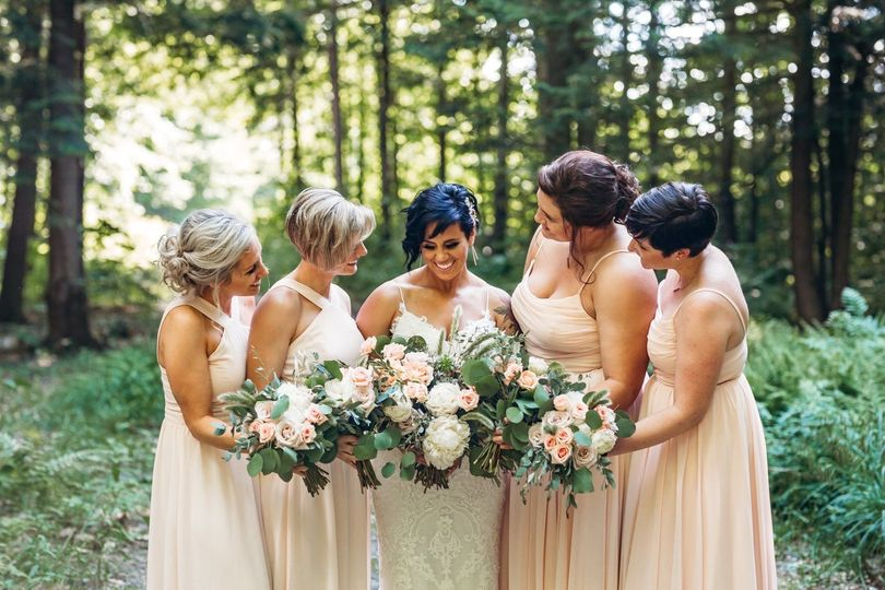 Wedding fairies in the forest