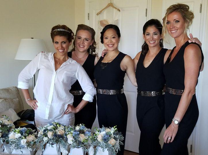 Bridesmaid before the wedding