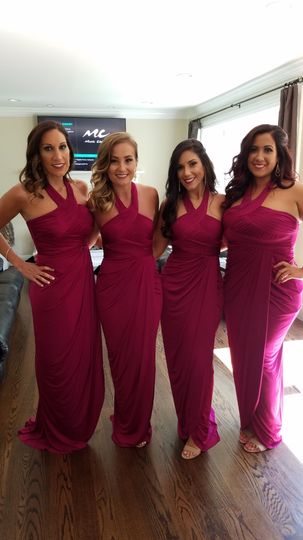 Bridesmaid after the ceremony