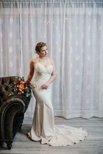Bride's photoshoot before the wedding