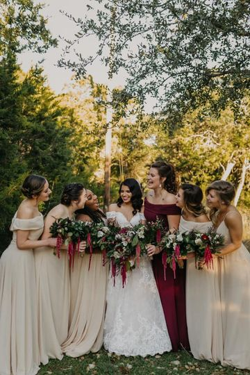Golden Hour with Bridesmaids