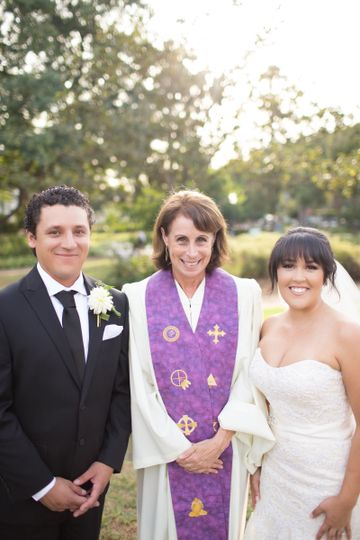 Newlyweds and the reverend