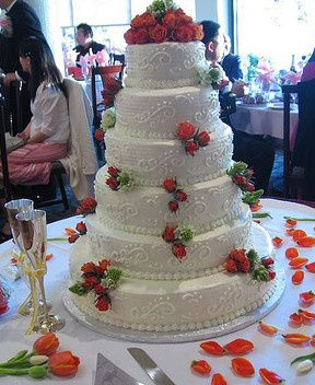 Tmx 1376751801589 Wedding Cakew Roses Crop Towson, Maryland wedding cake