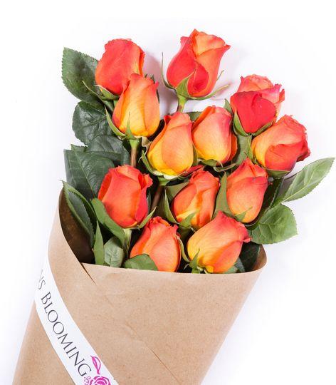 Orange Elegant Luxury Wedding Roses