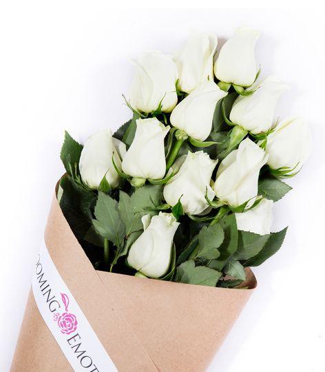 White Elegant Luxury Wedding Roses