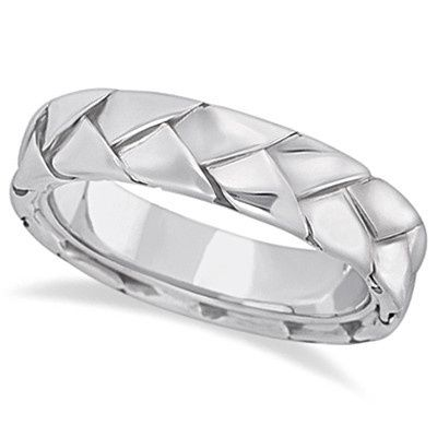 Men's Handwoven Braided Wedding Ring	  A handsome selection of men's wedding bands with weave- and...