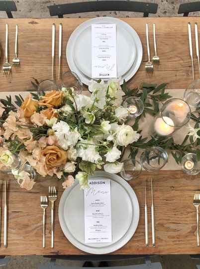Garden party place settings