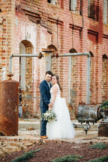 Newlyweds at Providence Cotton Mill