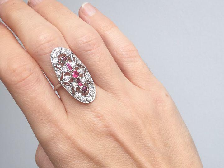 Tmx  Aurum Jewelers Art Deco Platinum Ruby Diamonds Ring 5 51 1056893 Buffalo, NY wedding jewelry