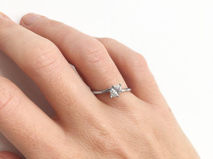 Tmx  Aurum Jewelers Marquis Shaped Solitaire Diamond White Gold Ring 6 51 1056893 Buffalo, NY wedding jewelry
