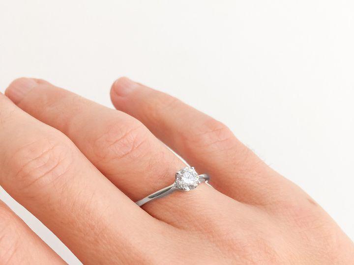 Tmx  Aurum Jewelers White Gold Diamond G Color Vs1 Solitaire Ring 7 51 1056893 Buffalo, NY wedding jewelry