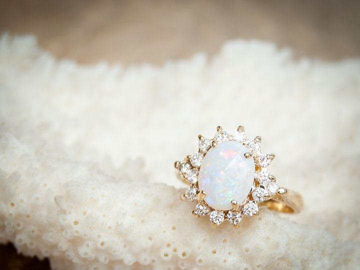 Tmx  Aurum Jewelers White Opal Gold Ring Circled Diamonds Shank 51 1056893 Buffalo, NY wedding jewelry