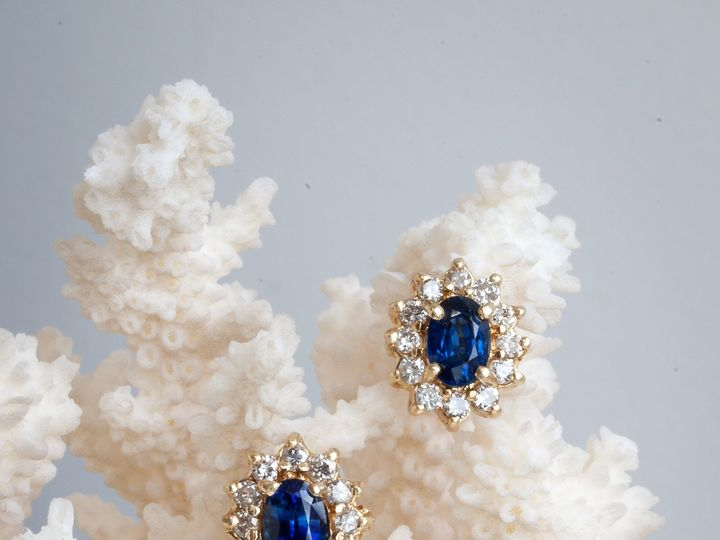Tmx Blue Oval Sapphire Diamond Halo Earringsaurum Jewelers  51 1056893 Buffalo, NY wedding jewelry