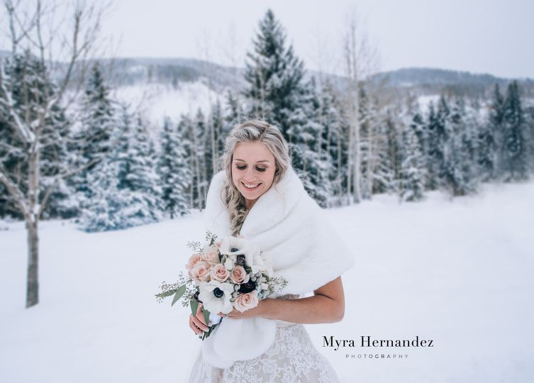 Snowy Vail wedding
