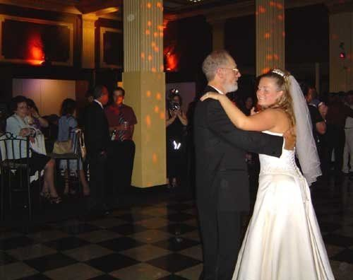 Parent and bride ancing