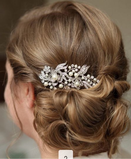 Bridal Hair Short Hair Updo