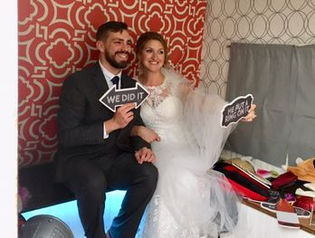 Bride & Groom Camper Booth