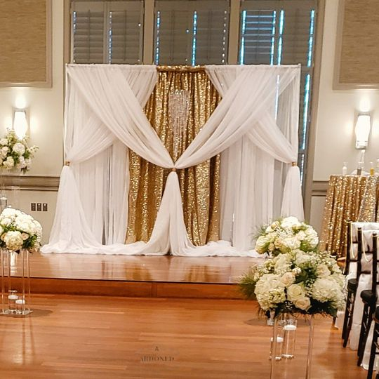 Woven Ceremony backdrop