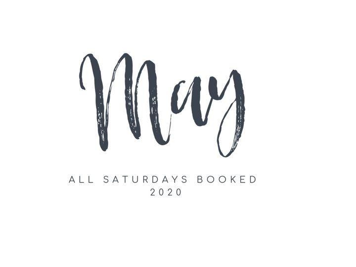May 2020 Booked