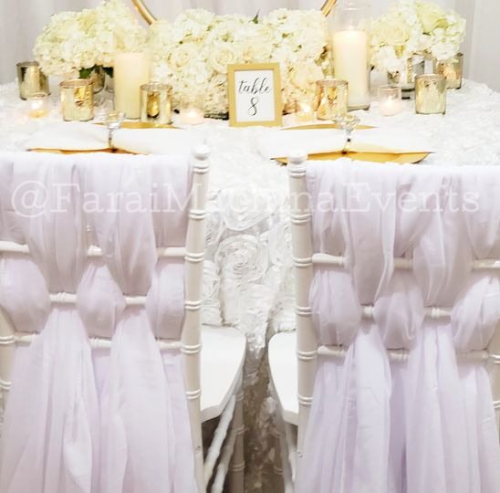 All white and gold decor