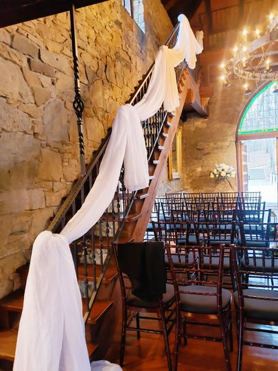 Bannister rail draping