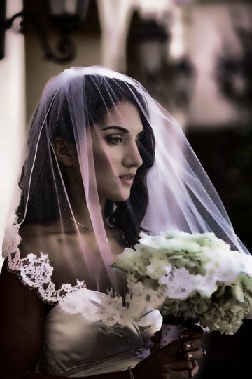 Bride's dramatic shot