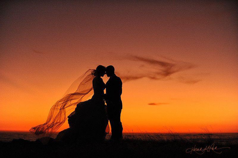 Couple's silhoutte